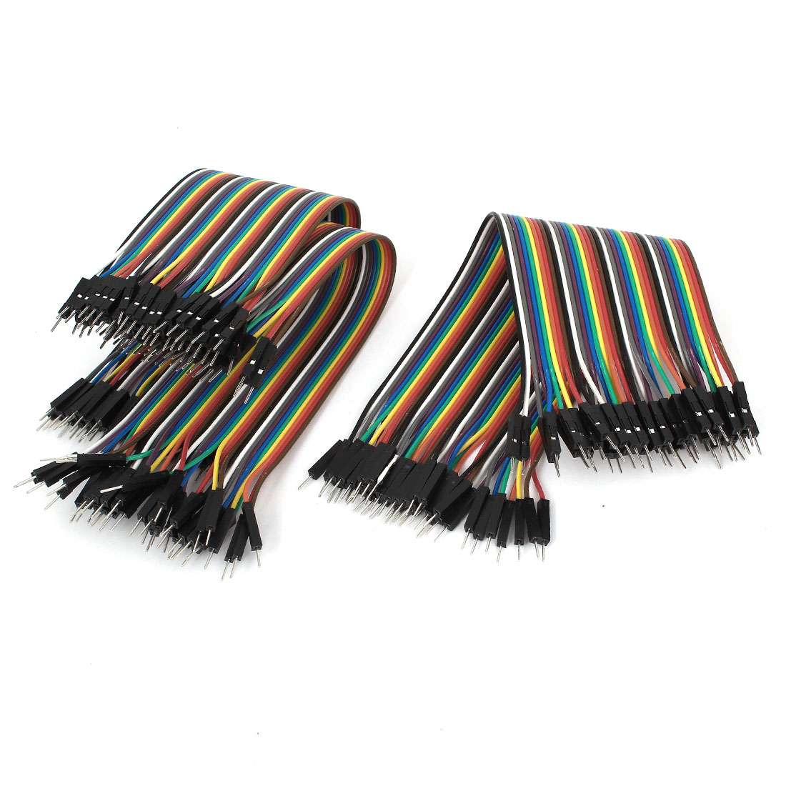 3pcs 40P-40P 40Pin Crimp Terminal Male to Male Pin Connector Jumper Cable Wire Line Colorful 21.5cm