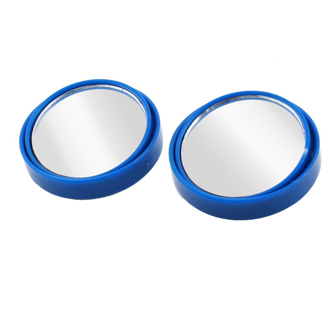 """Car Blue Wide Angle Round Convex Rearview Blind Spot Mirror 2"""" 2pcs"""