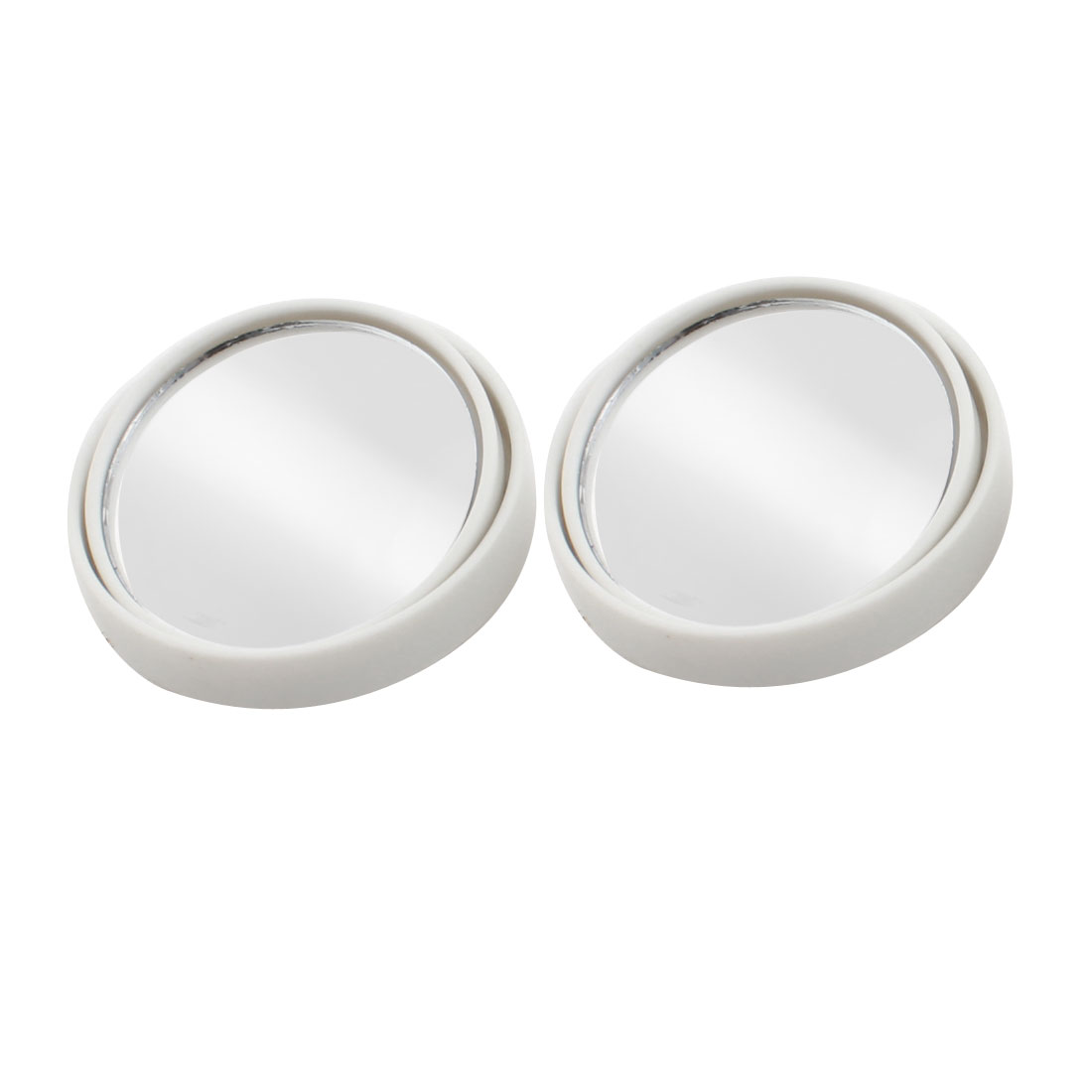 "Car White Wide Angle Round Convex Rearview Blind Spot Mirror 2"" 2pcs"