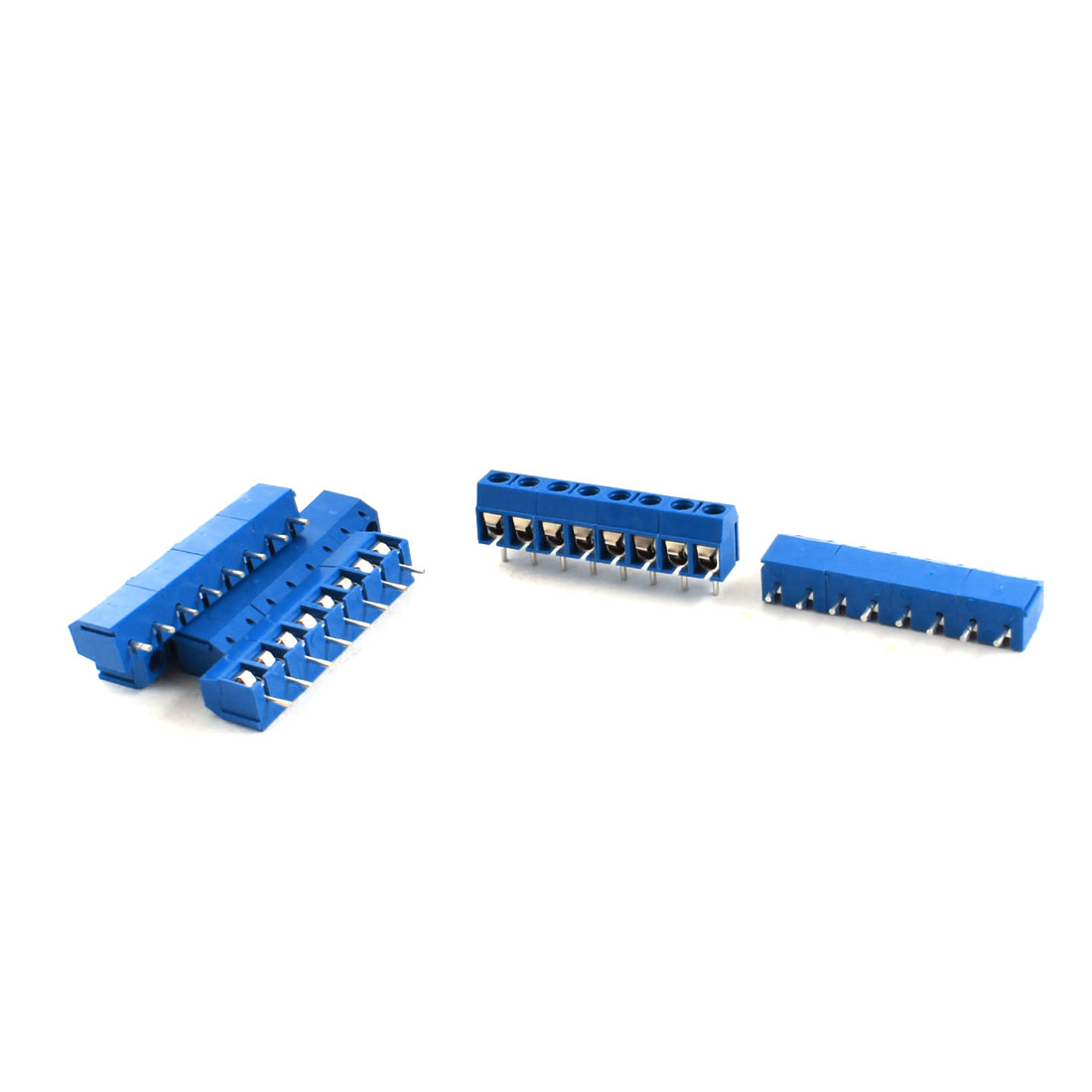6Pcs 5.08mm Pitch 8Pin PCB Mount Power Screw Terminal Block Connector