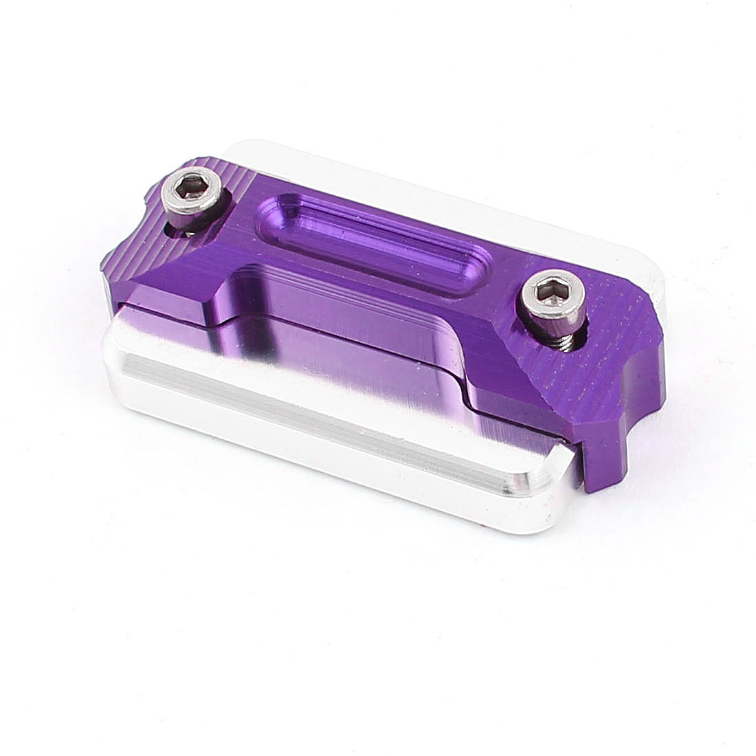 Motorbike Motorcycle Metal Modified Dual Layers Water Pump Cover Silver Tone Purple