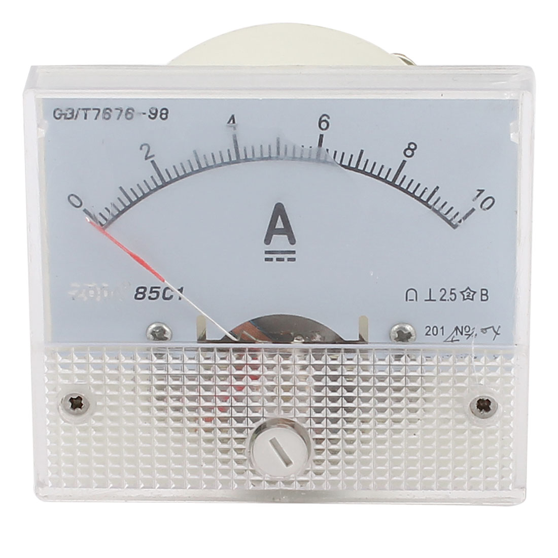 Rectangle DC 0-10A Ammeter Gauge Analog Current Panel Meter 85C1