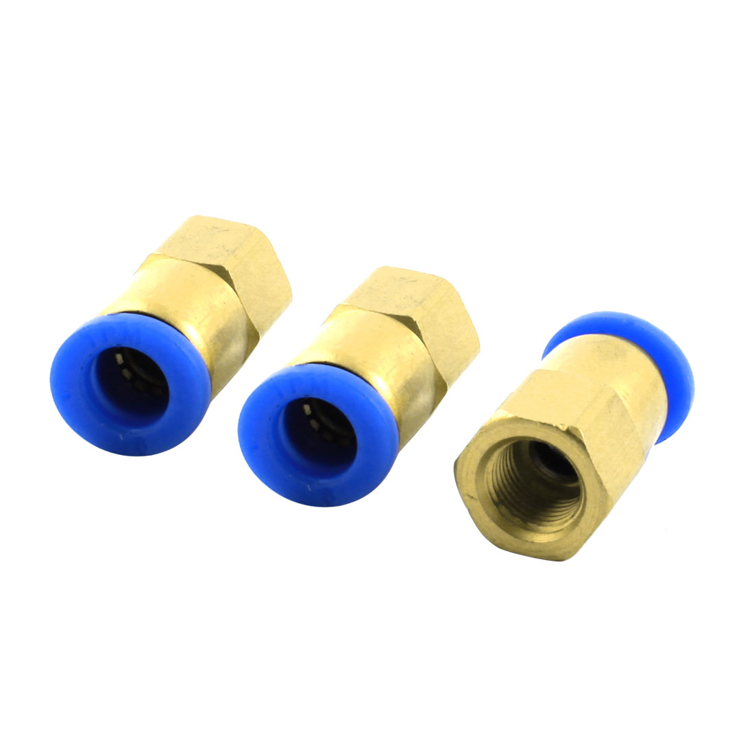 3pcs 1/4PT Thread to 8mm Hole Tube Air Pneumatic Push in Quick Connector