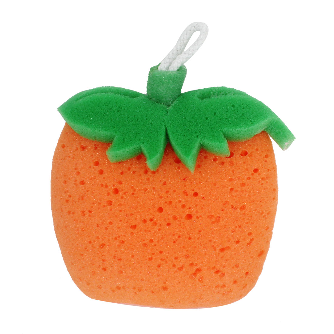 Orange Green Foam Fruit Shaped Bubbles Scrubber Bath Shower Pouf