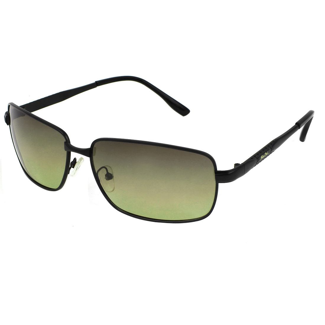 Slim Arm Black Frame Single Bridge Polarized Sunglasses Sun Glasses for Man