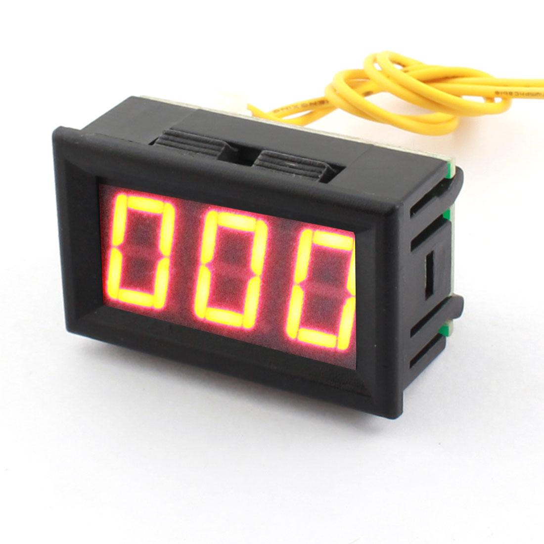 AC12V-380V 19mm Wire Leads 7 Segment Red Digits LED Digital Display Panel Mount Voltmeter Voltage Meter