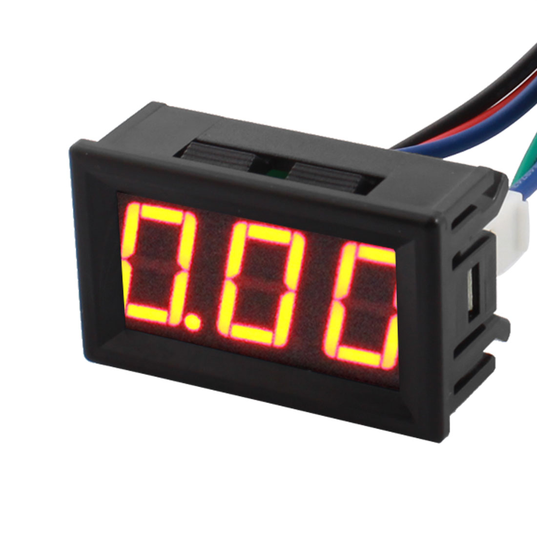 DC 0-10A 7 Segments 3Position Red Digits LED Display Current Ampere Meter Tester Panel Mount Ammeter Gauge wi