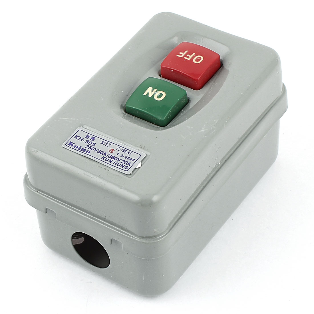 KH-305 Electric Power ON/OFF Push Button Switch AC 250V/30A 380V/20A