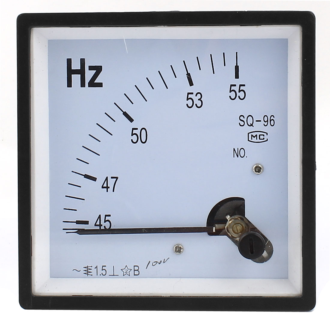 45-55Hz AC 100V Frequency Analog Test Meter Square Panel Electric