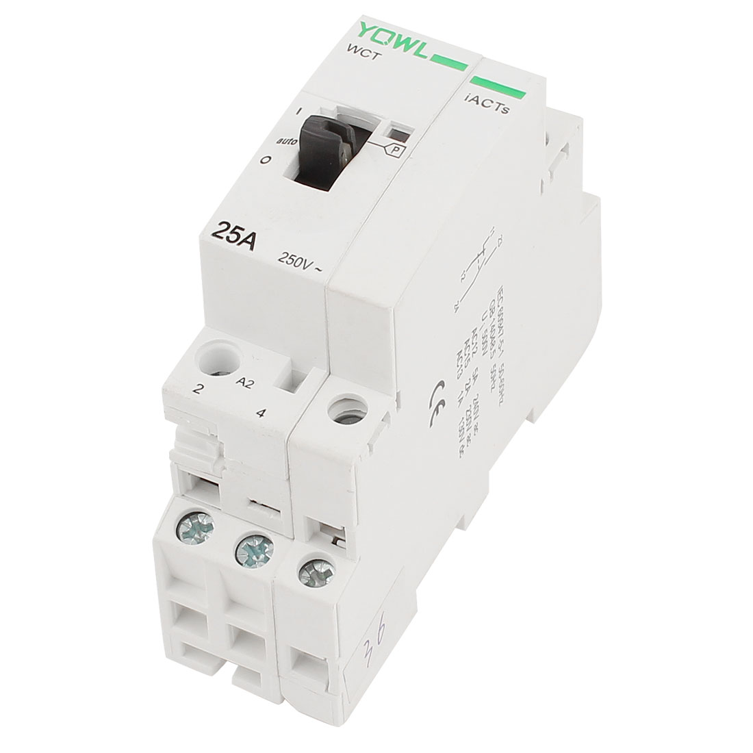 WCT-25A Double Pole Household Electric AC Power Contactor Uc 230V 25A