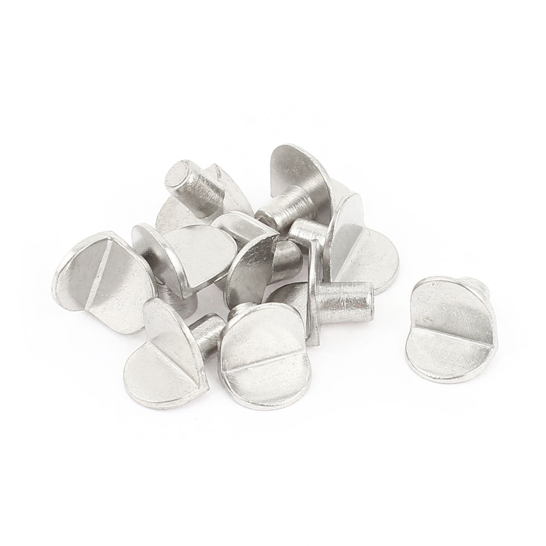 10 Pcs L Design Glass Shelf Holder Support Peg Pin 5mm Diameter