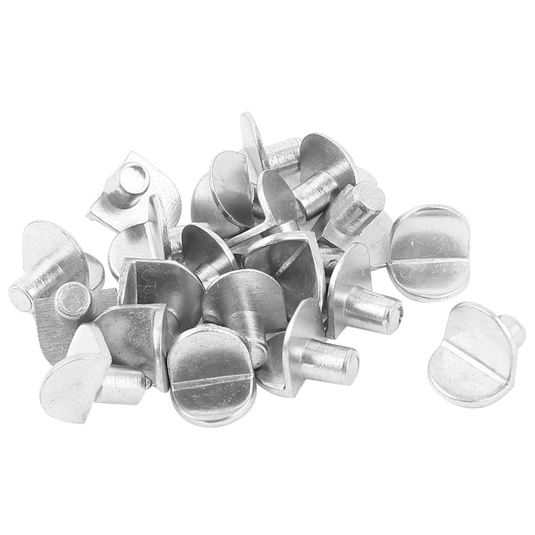Furniture Shelf Holder Support Metal Pin Supporter Silver Tone 20 Pcs