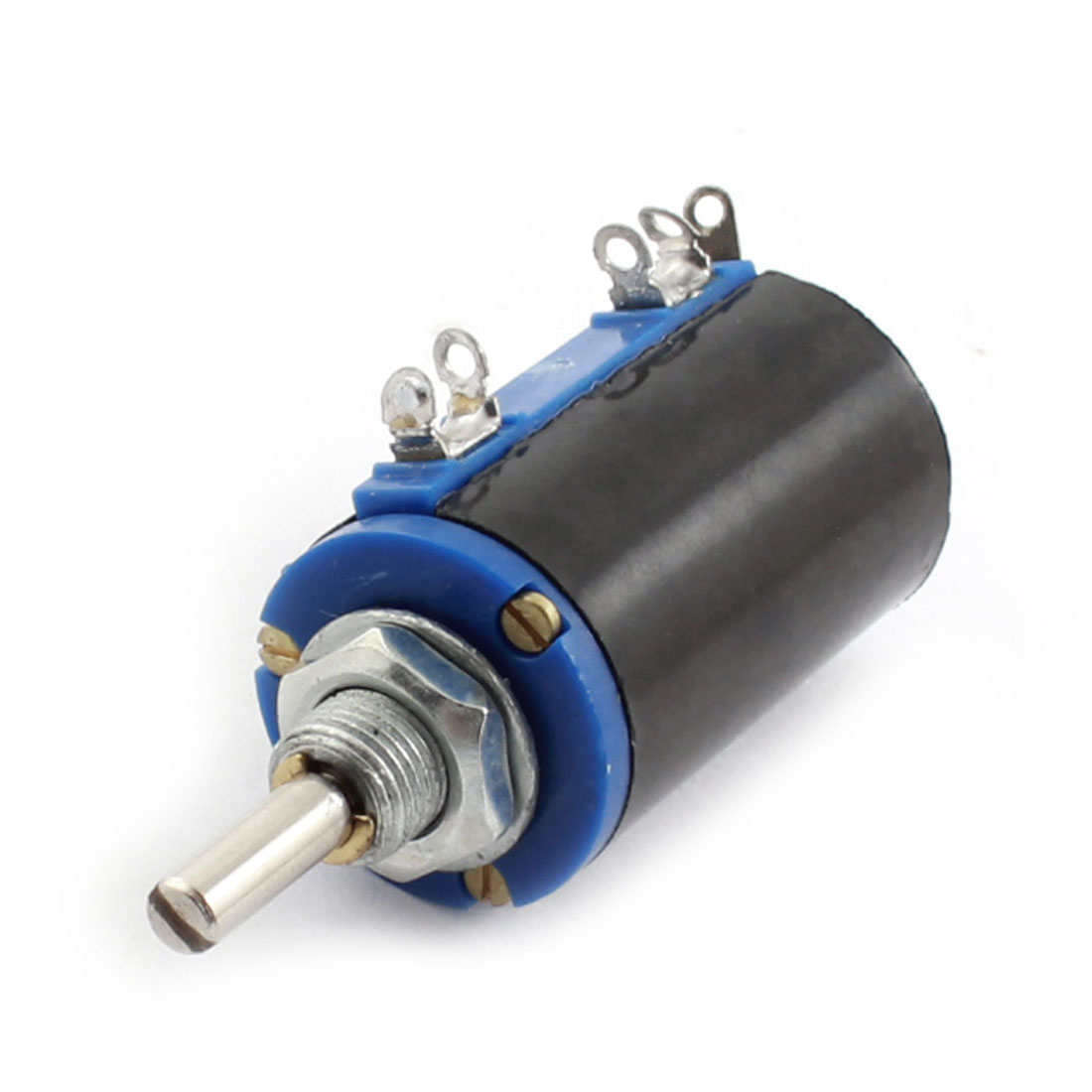 WXD3-13 2W 22K Ohm 5% Tolerance 3 Solder Lug 4mm Dia Drive Shaft Wire Wound Rotary Potentiometer