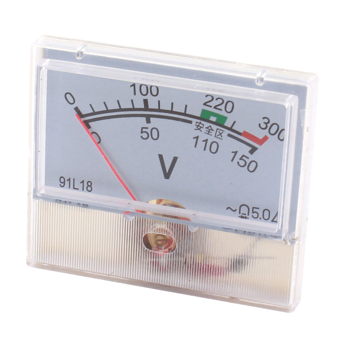 AC 0-300V Class 5.0 Accuracy Rectangle Plastic Fine Tuning Dial Voltage Panel Meter Analog Voltmeter for Testing Work