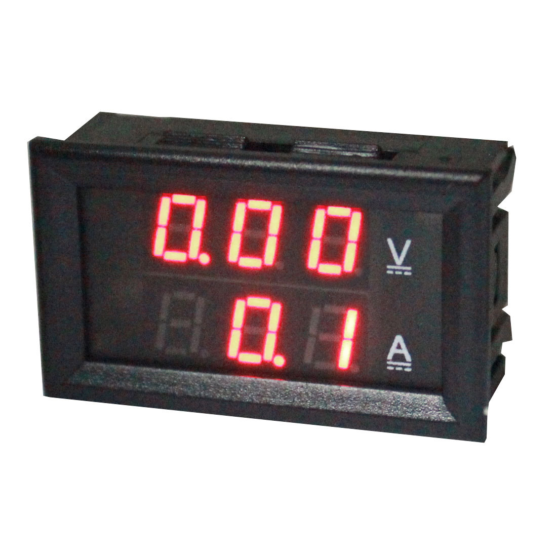 DC 0-100V 50A Wire Leads Panel Mount 7-Segment Red Digits 3-Bit LED Digital Display Ammeter Voltmeter Volt Ampere Meter