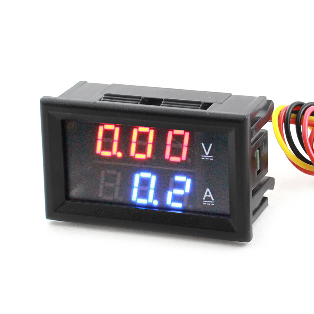 DC 0-100V 50A 7 Segment Red Blue Digits 3-Bit LED Digital Display Panel Gauge Ammeter Voltmeter Volt Ampere Meter w Cable