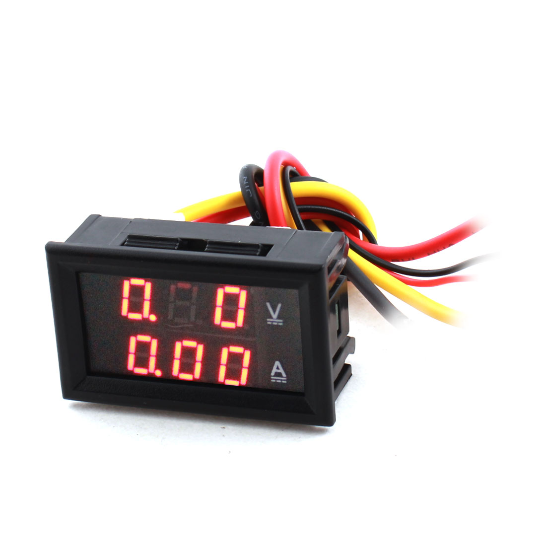 DC 0-100V 10A 7-Segment Red Digits 3-Bit LED Digital Display Panel Gauge Ammeter Voltmeter Volt Ampere Meter w Cable