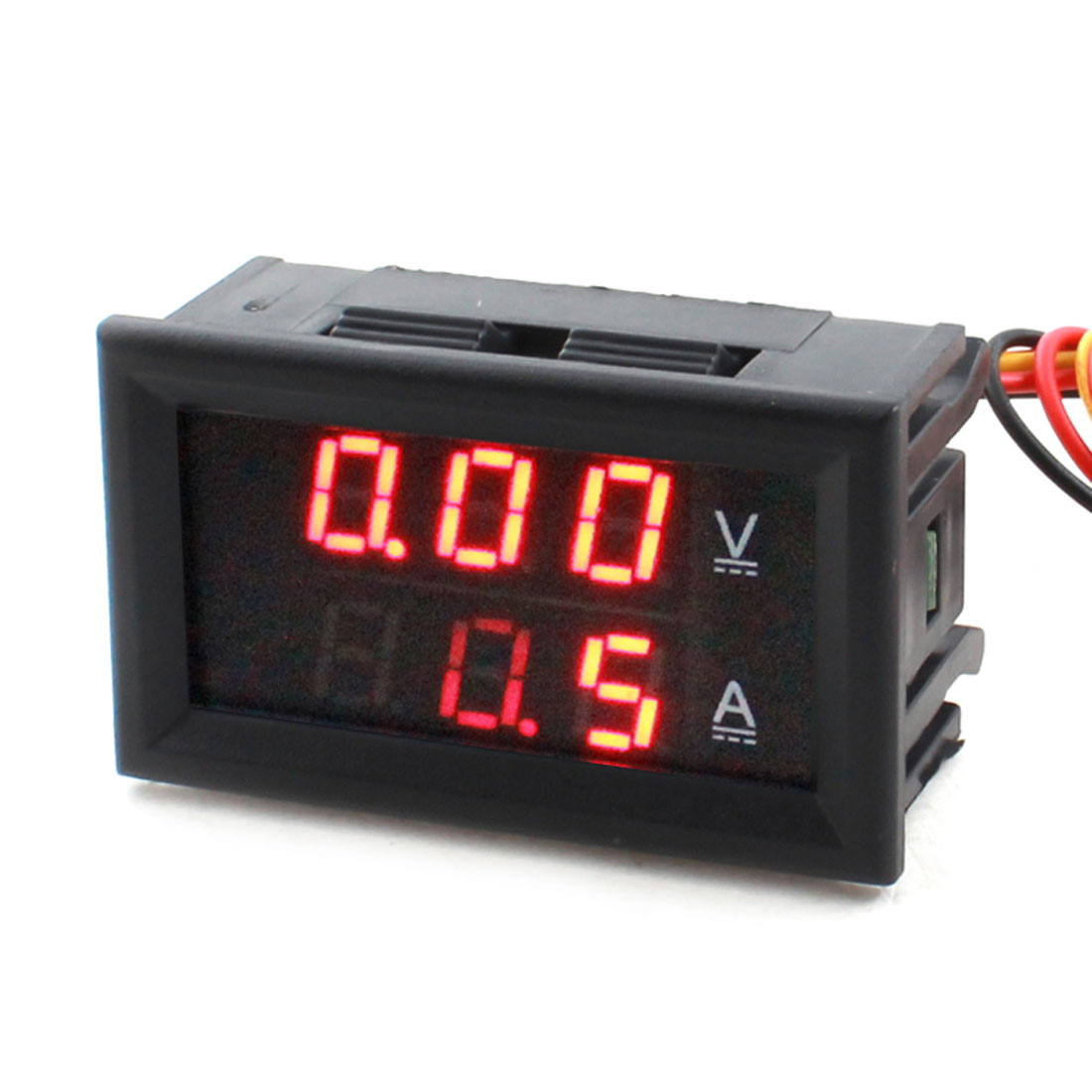 DC 0-100V 100A Wire Leads Red Digits LED Digital Display Panel Gauge Ammeter Voltmeter Volt Ampere Meter