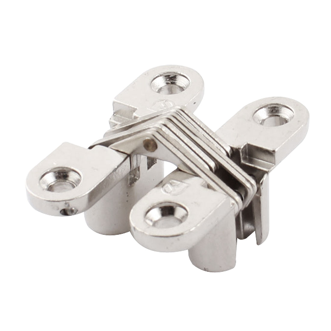 "43mm 1.7"" Length Silver Tone Metal Folding Sliding Door Furniture Cross Hinge"