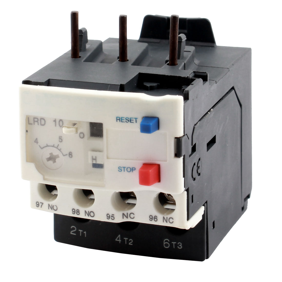 LRD10C 4-6A 1NO 1NC 3 Phases Adjustable Motor Protector Electric Thermal Overload Relay