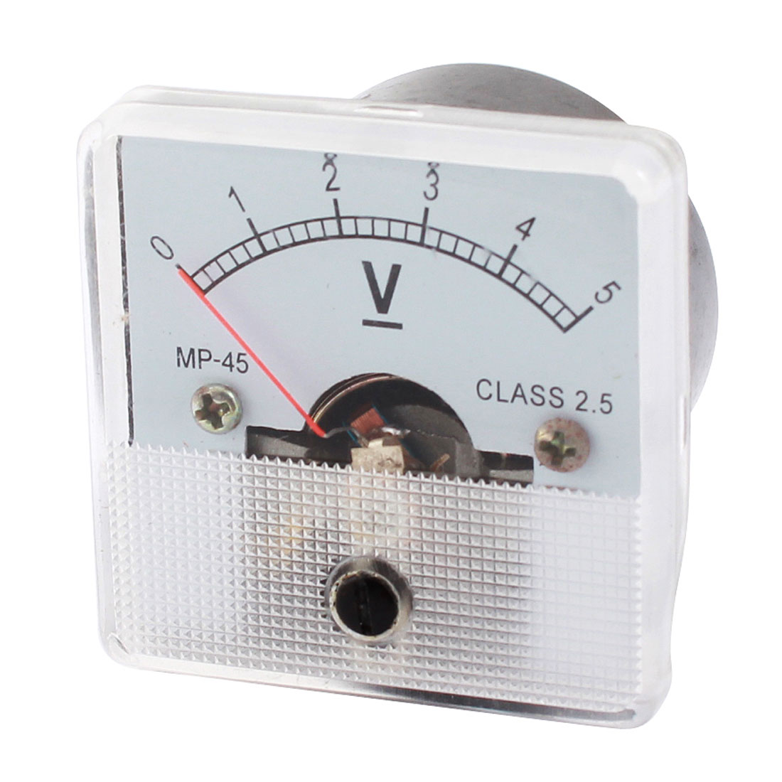 DC 0-5V Class 2.5 Accuracy Square Shaped Plastic Voltage Panel Meter Voltmeter