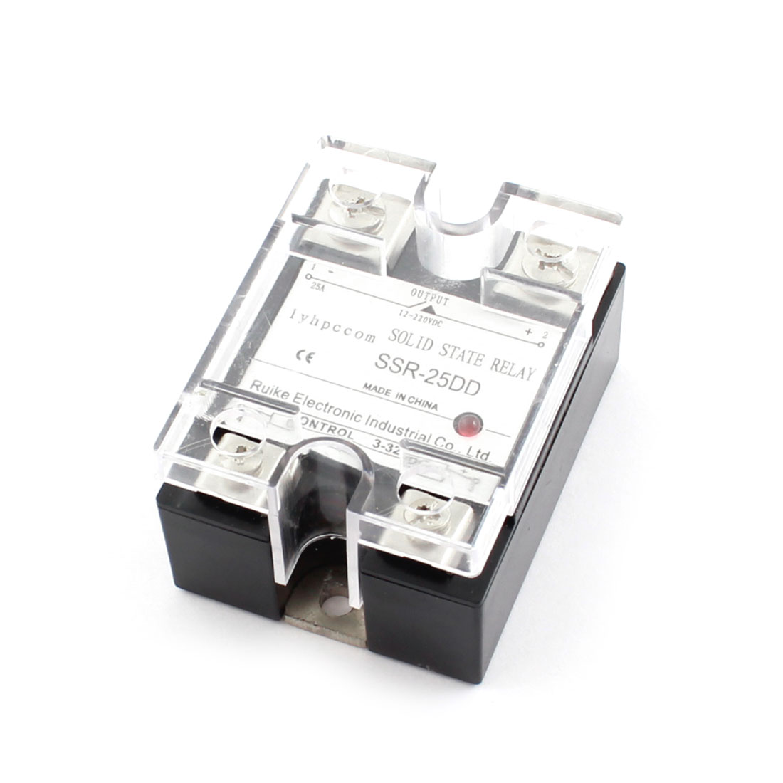 SSR-25DD DC3-32V Input DC12-220V Output Temperature Control Solid State Relay 25A