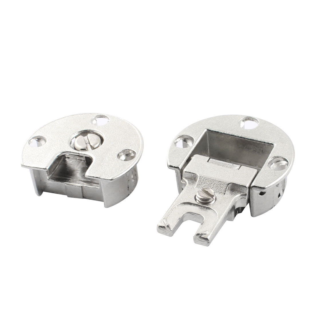 Hardware Tool Round Silver Tone Metal Right Angle Concealed Cabinet Hinge for Furniture Door