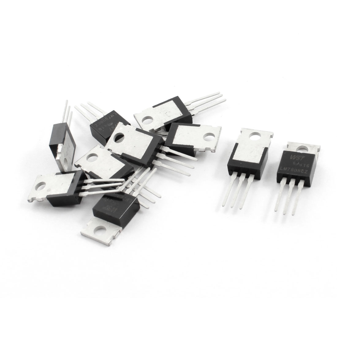 10Pcs LM7806CZ DC 8V 1.5A Three Terminals Through Hole Mount Positive Voltage Regulator TO-220