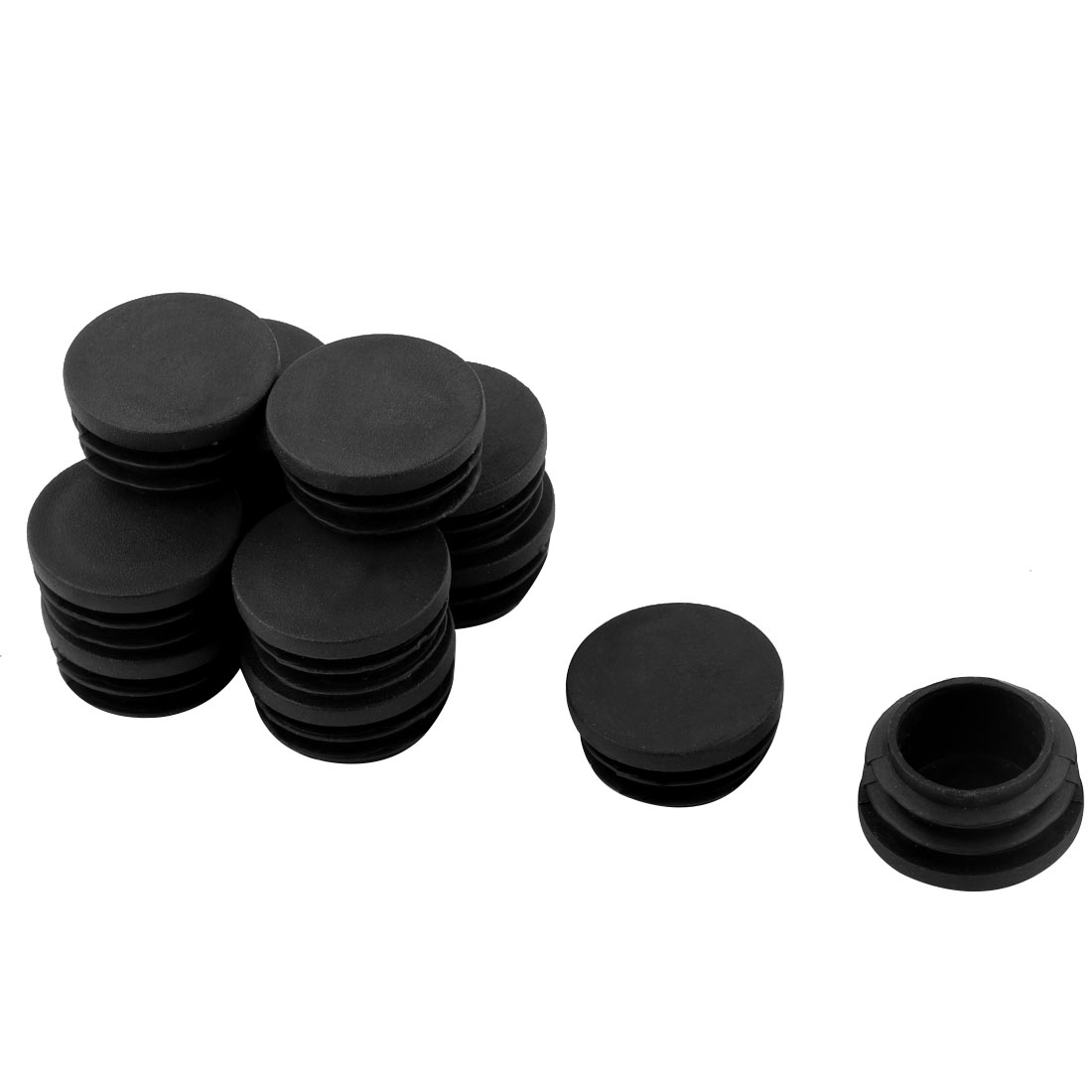12 Pcs Plastic 30mm Thread Dia Tubing Tube Insert Blanking End Cap Cover