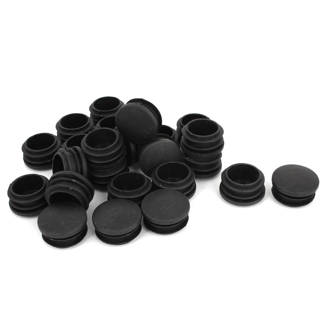 24 Pcs Plastic 30mm Thread Dia Tubing Tube Insert Blanking End Caps