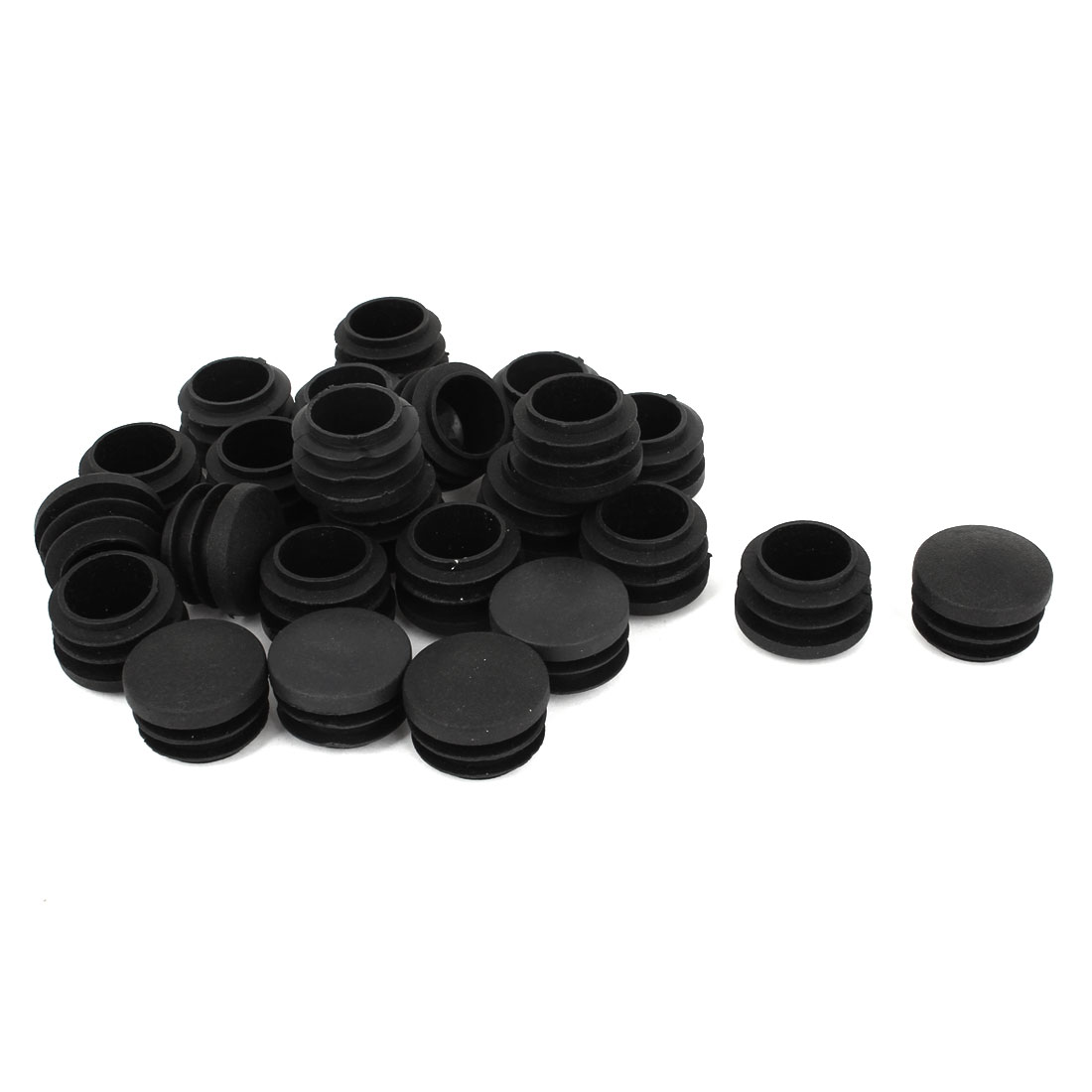 24 Pcs Plastic 28mm Thread Dia Tubing Tube Insert Blanking End Caps