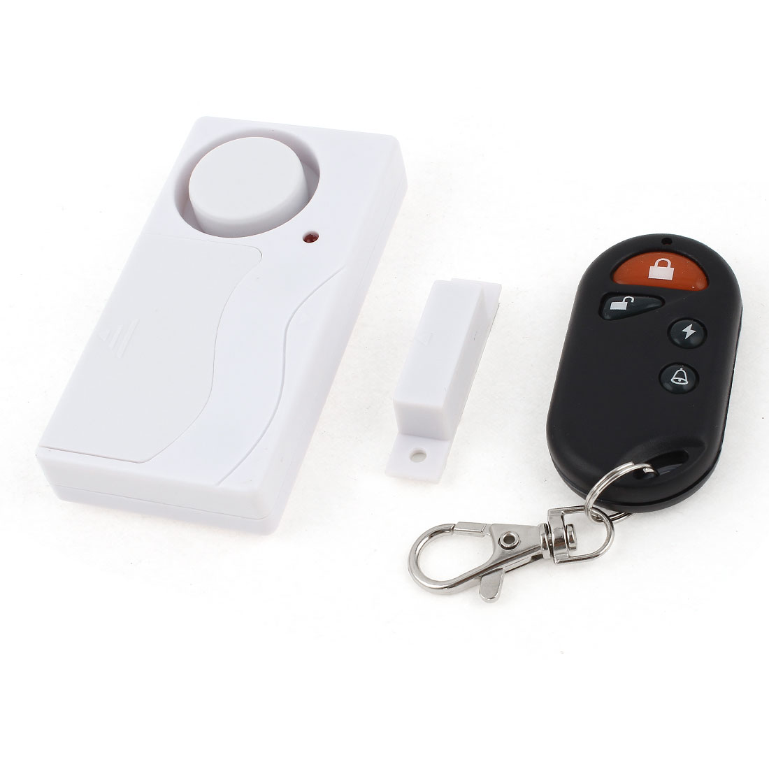 White Wireless Remote Control Window Door Magnetic Sensor Burglar Entry Alarm