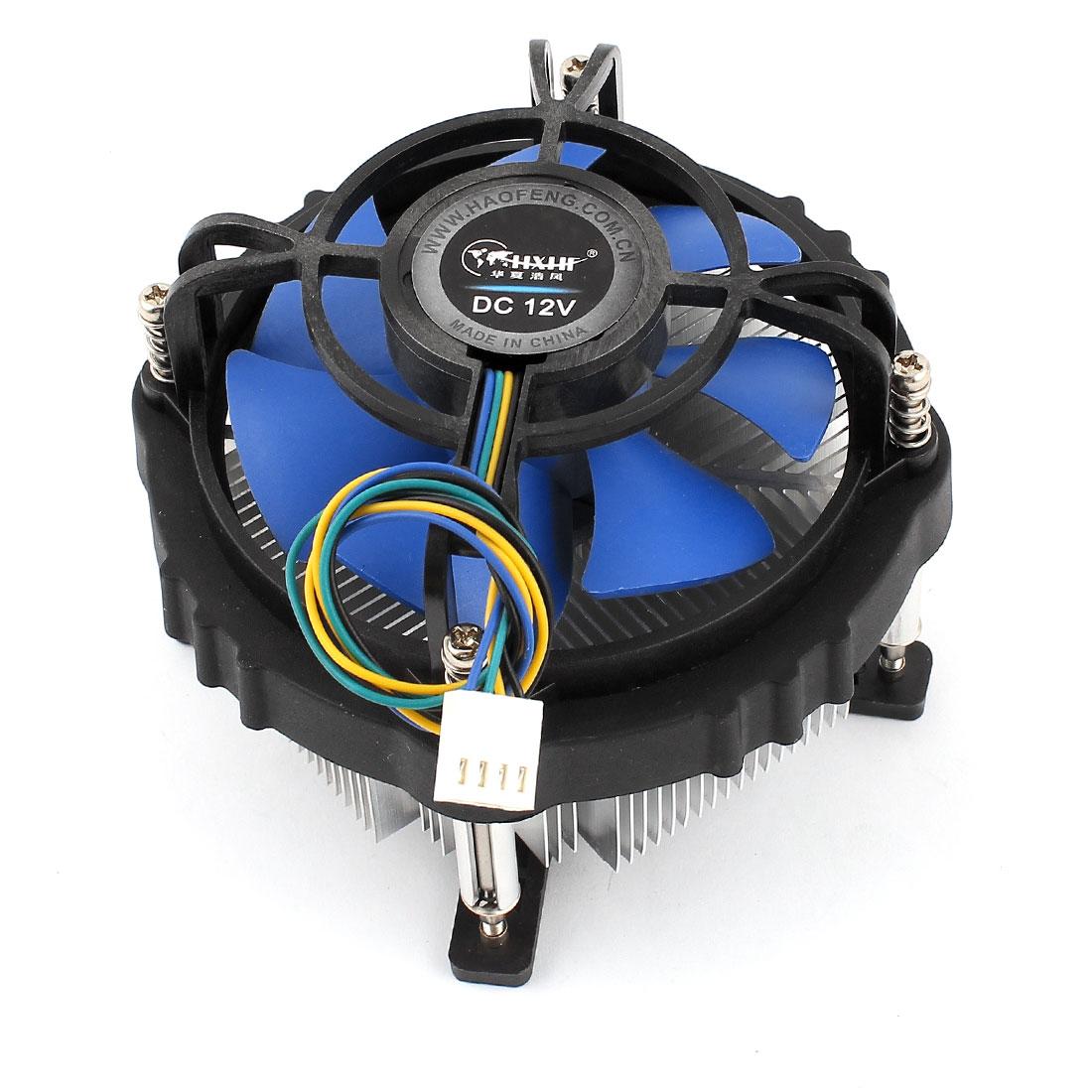 DC 12V 0.16A 40.9CFM 4Pins Connector CPU Cooler Cooling Fan Heatsink for LGA 775