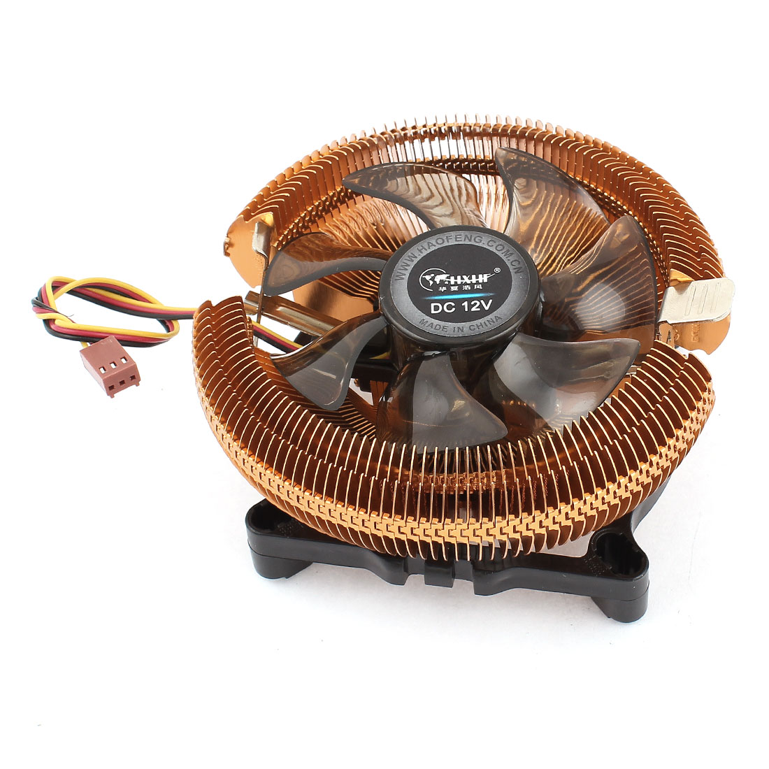 DC 12V 0.15A 52.3CFM 3Pins Connector CPU Cooler Cooling Fan Heatsink for LGA 775
