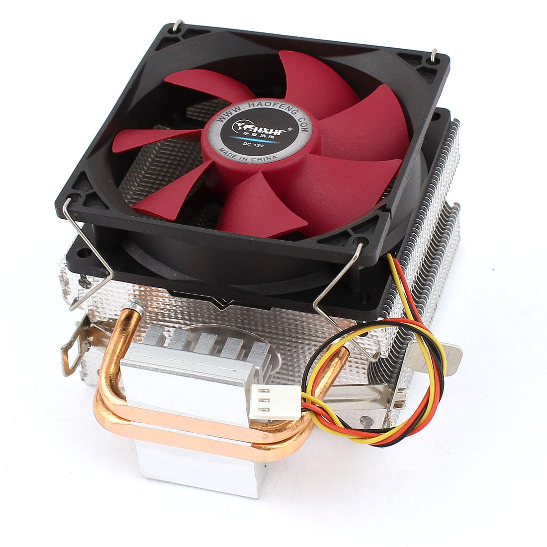 DC 12V 11dB 3Pins Connector CPU Cooler Cooling Fan Heatsink for LGA775/1366/1156