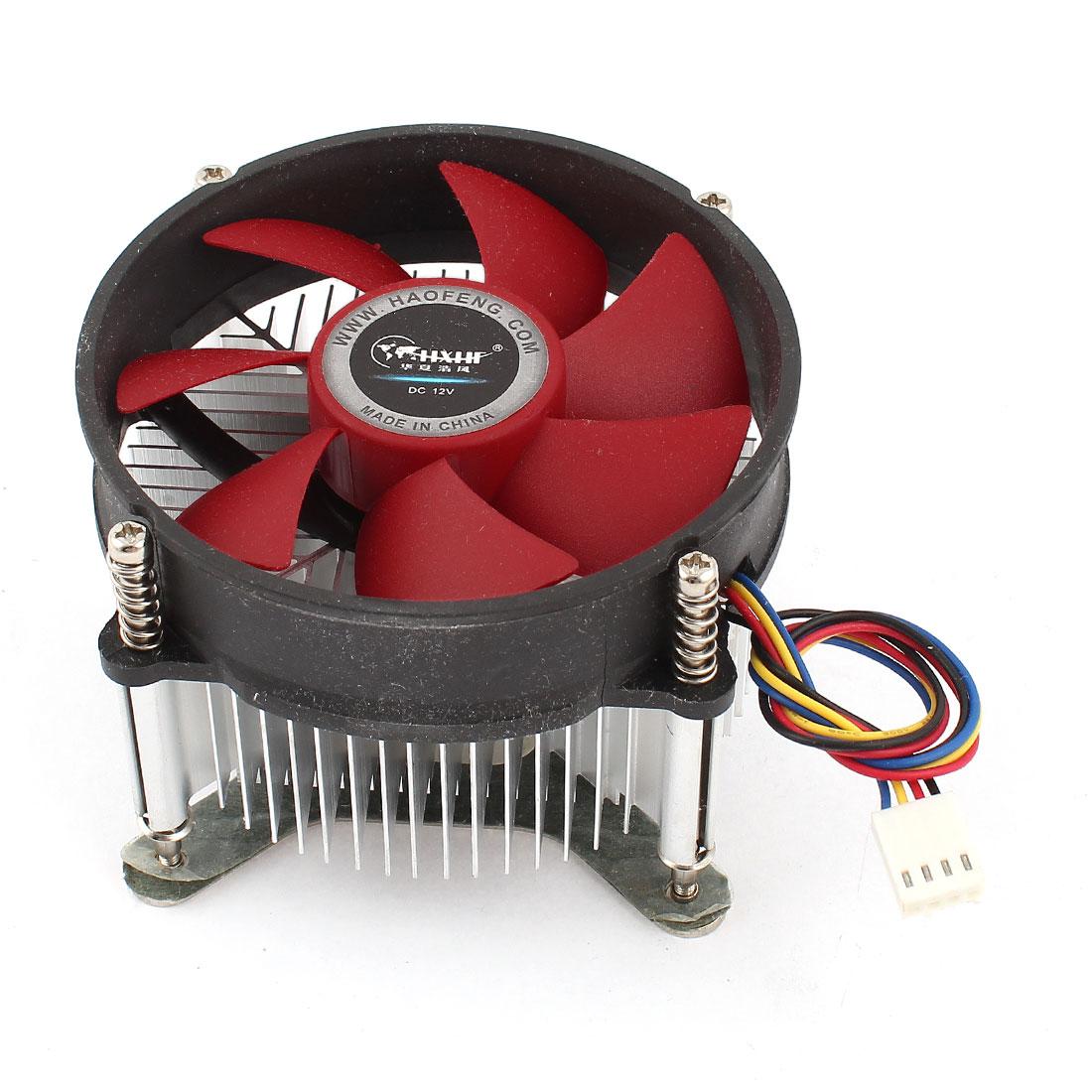 DC 12V 47CFM 32dB 4Pin Connector PC CPU Cooler Cooling Fan Heatsink for LGA 775