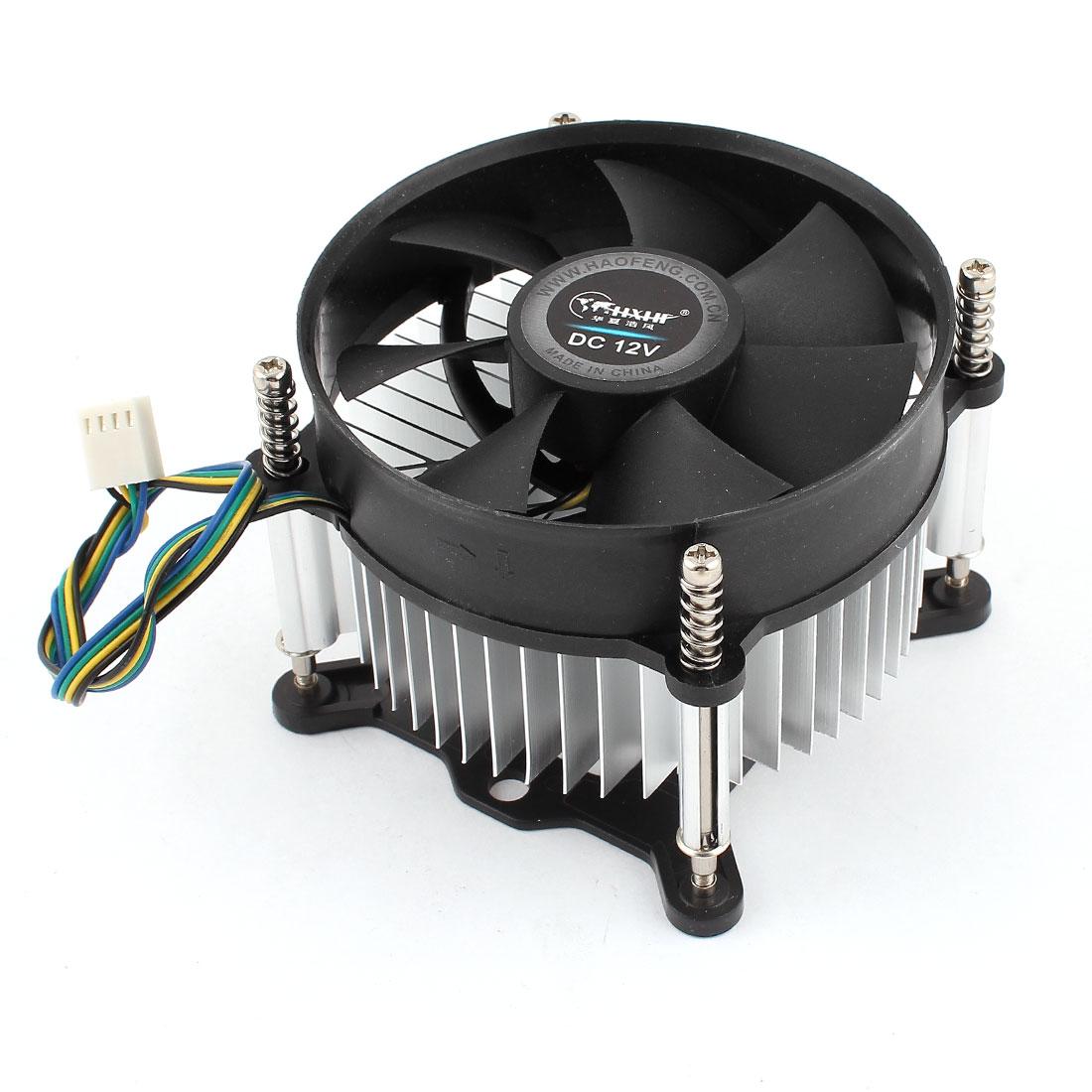 DC 12V 2200RPM 4Pins PC CPU Cooler Cooling Fan Heatsink for for Intel Socket 95W