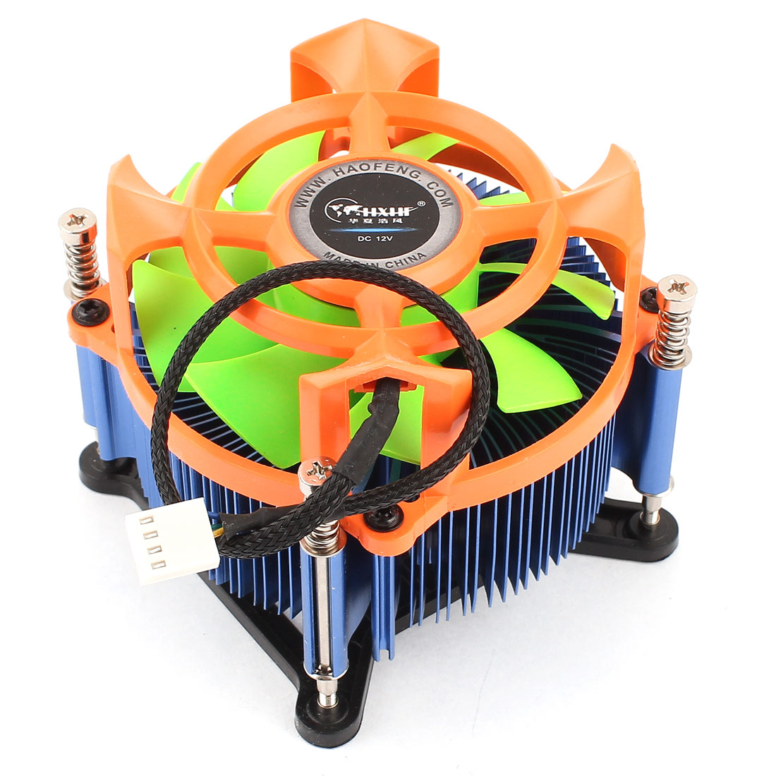 DC 12V 25dB 4Pins Connector CPU Cooler Cooling Fan Heatsink for Intel Socket 95W