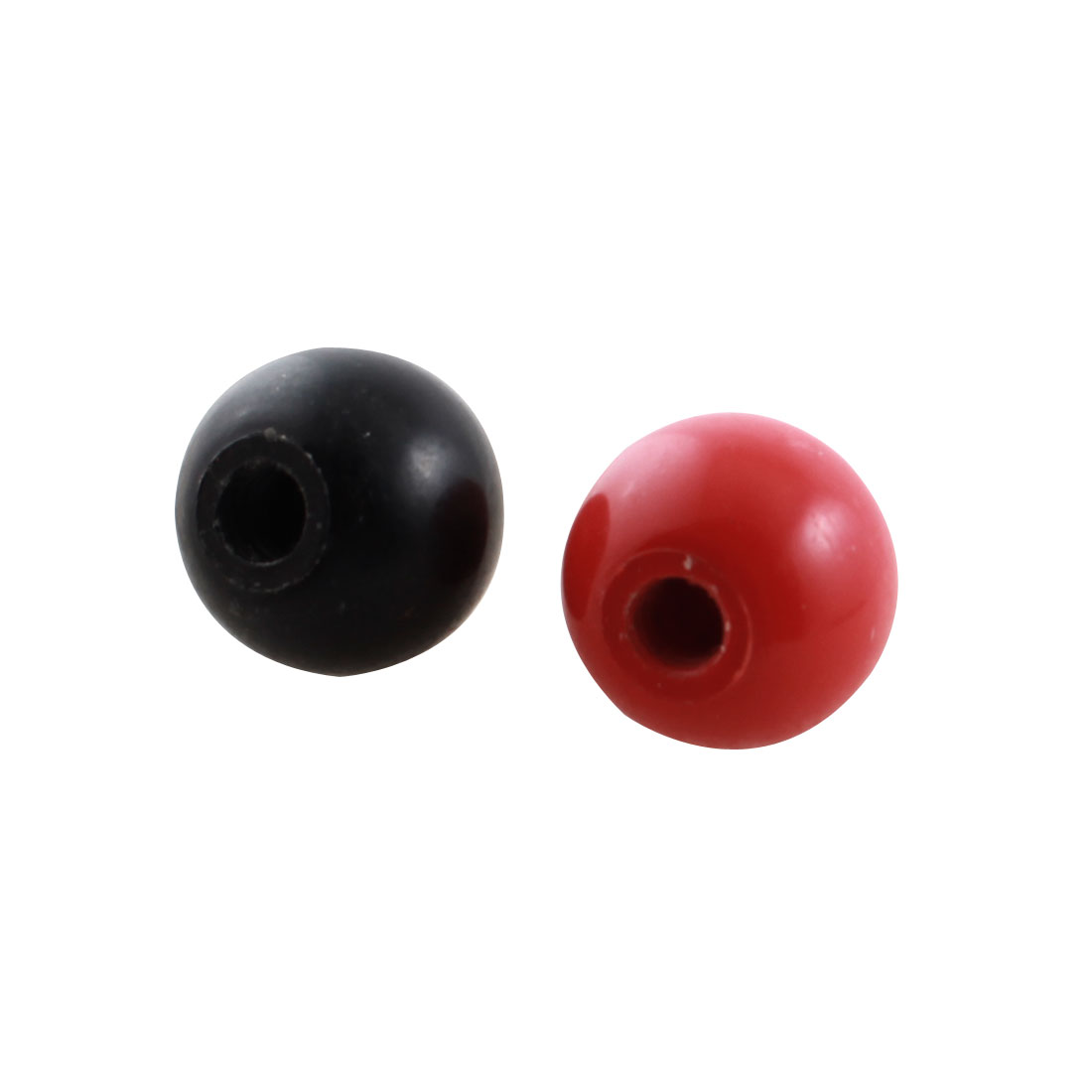 2pcs 20mm Dia Plastic Ball M6 Threaded Blind Hole Handling Knob Black Red