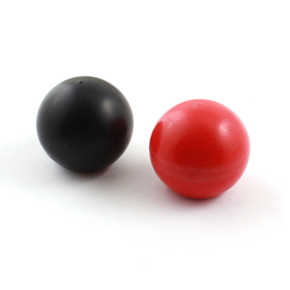 2pcs 25mm Dia Plastic Ball M6 Threaded Blind Hole Handling Knob Black Red