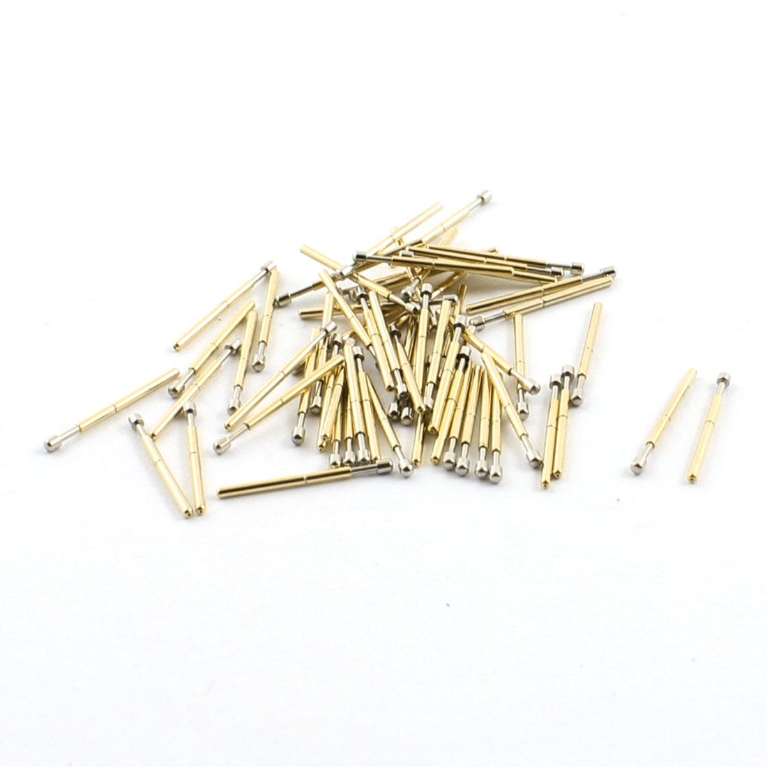 100PCS Spring Test Probes Testing Pins 1.3mm Round Spherical Tip 16.5mm P75-D