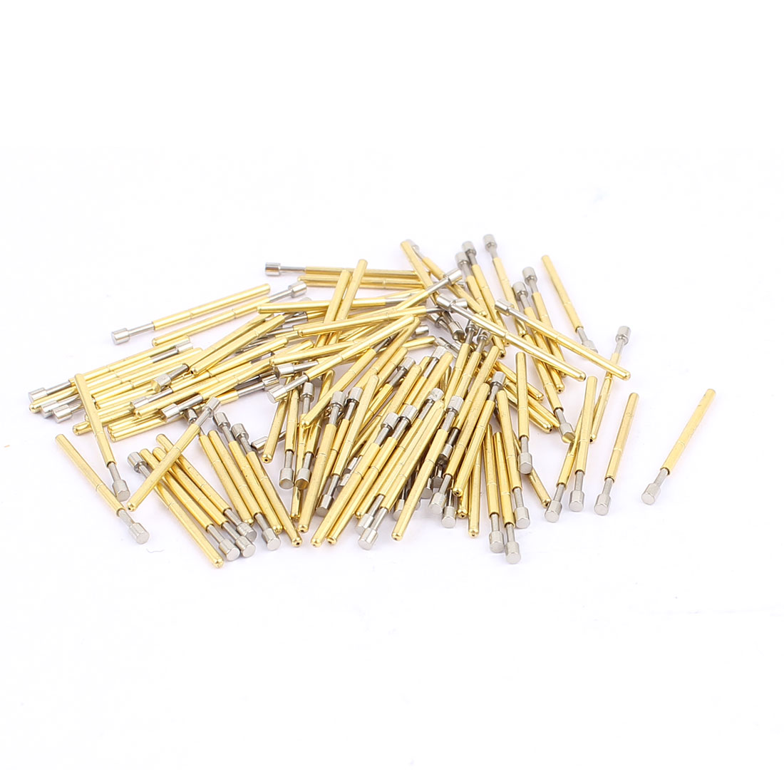 100pcs P75-G 1.3mm Diameter Flat Tip 16.5mm Spring Loaded Test Probes Testing Pins for PCB Board