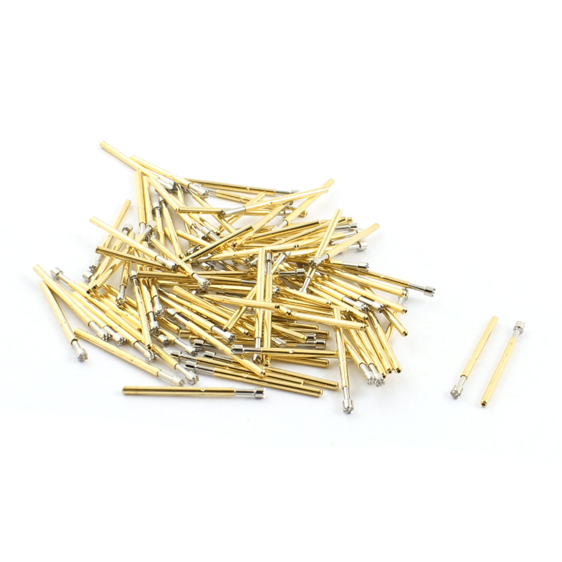100pcs P160-H3 1.8mm Dia 9-Pointed Plum Tip 23.5mm Length Metal Spring Test Probes Testing Pins for PCB Board