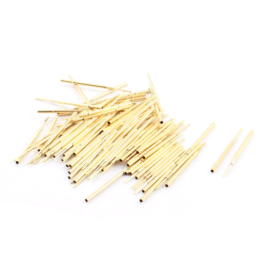 100Pcs R100-4W 0.6x0.6mm Tip Test Probe Pins Receptacles 39mm Long for PCB Board