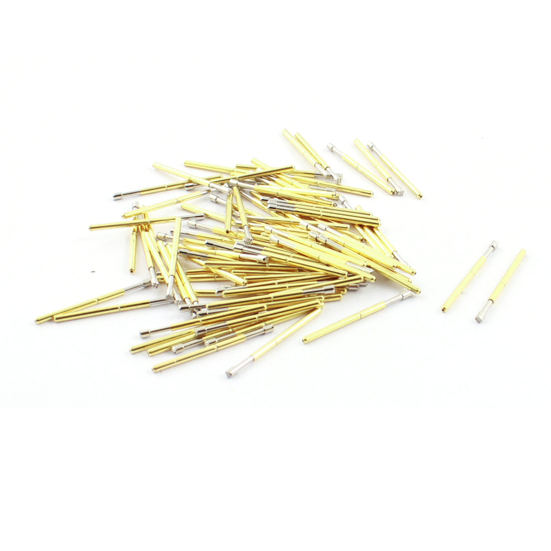 100pcs P160-H2 1.5mm Dia 9-Pointed Plum Tip 24.5mm Length Metal Spring Test Probes Testing Pins for PCB Board
