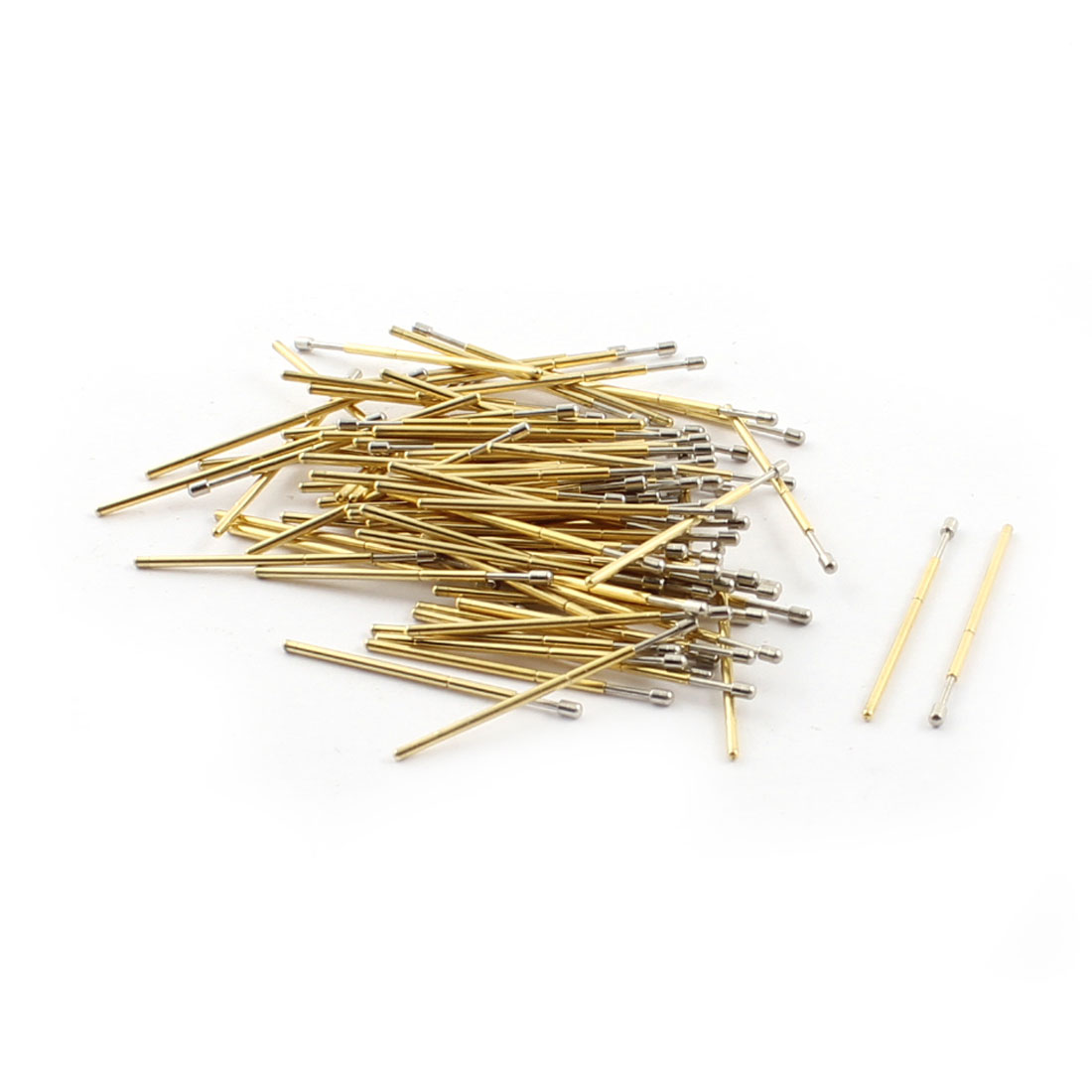 100 Pcs PM75-D 1.3mm Dia Round Spherical Tip 28mm Metal Spring Loaded Test Probes Testing Pins for PCB Board
