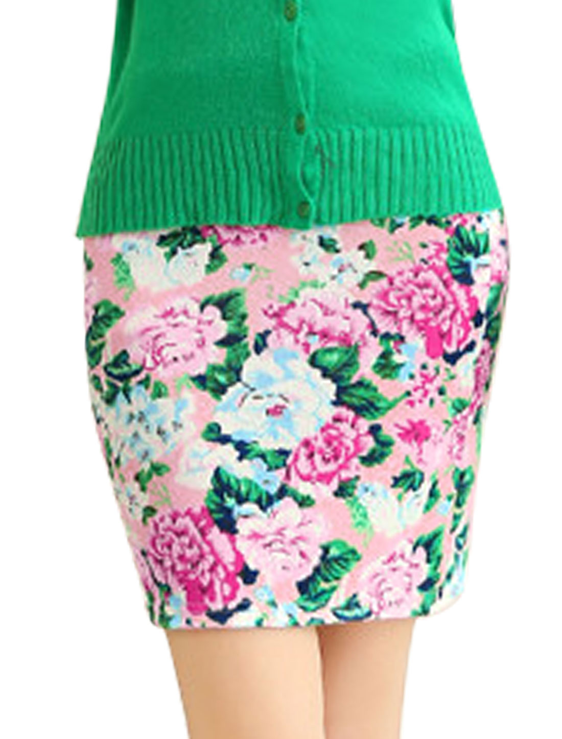 Women Floral Prints New Style Natural Waist Casual Mini Skirt Multi Color XS