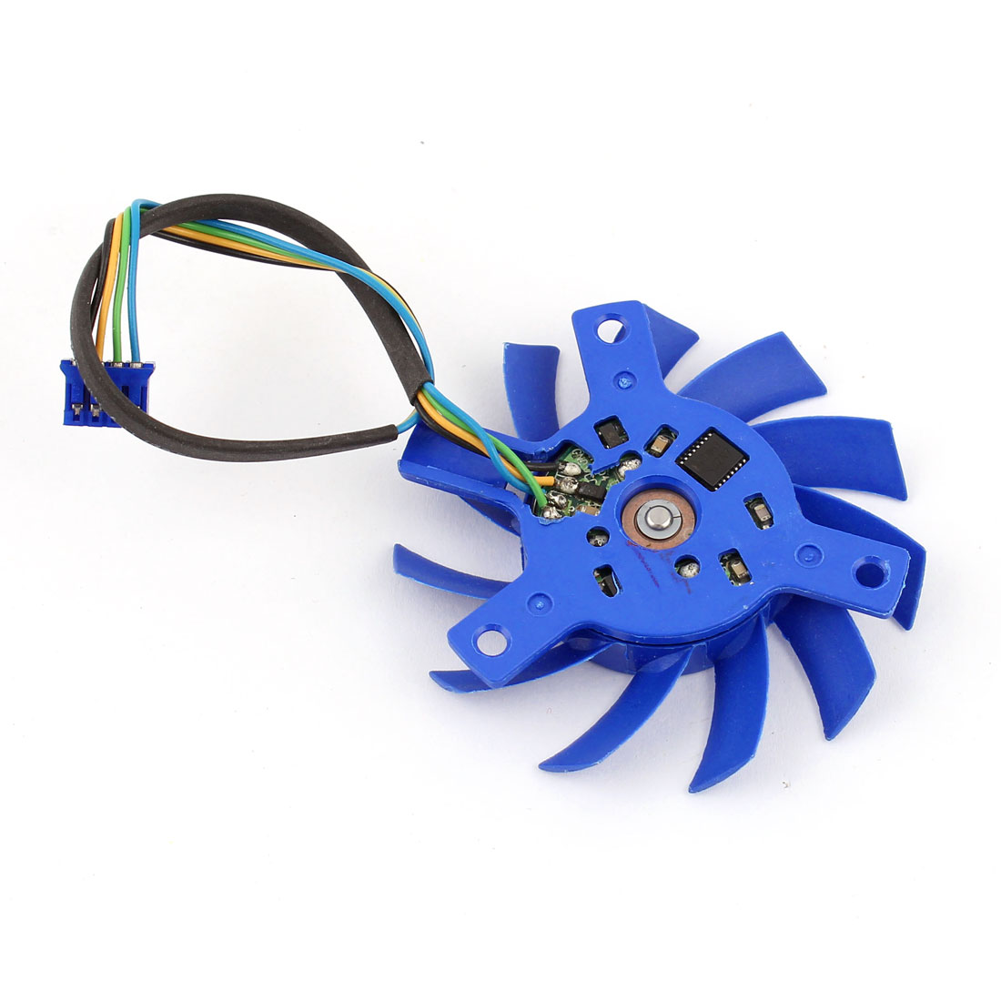 55mm Blue Plastic PC Computer VGA Video Card Cooling Fan Cooler DC 12V