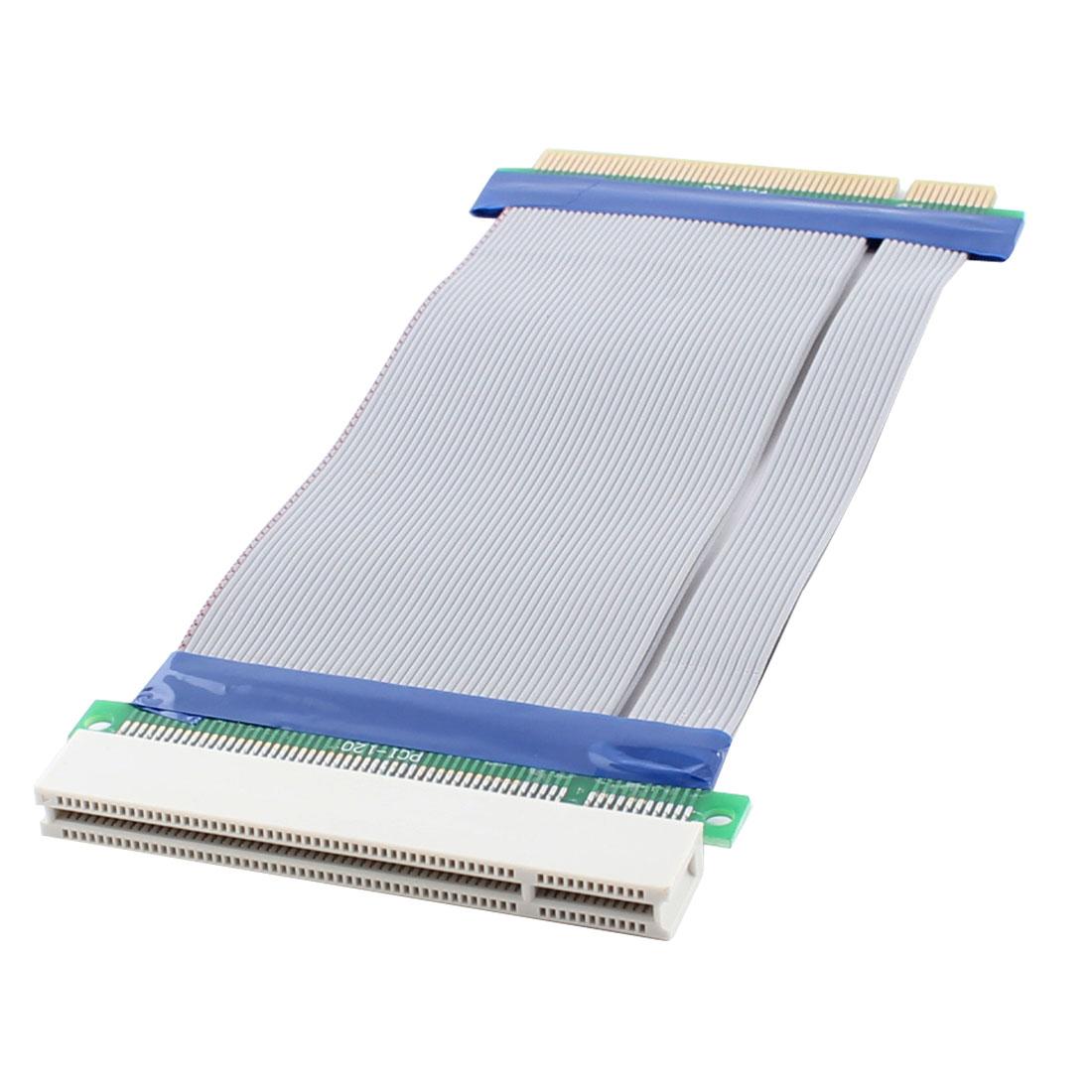 PCI 32 Bit Adapter Converter Riser Card Extender Flexible Ribbon Cable 19.5cm