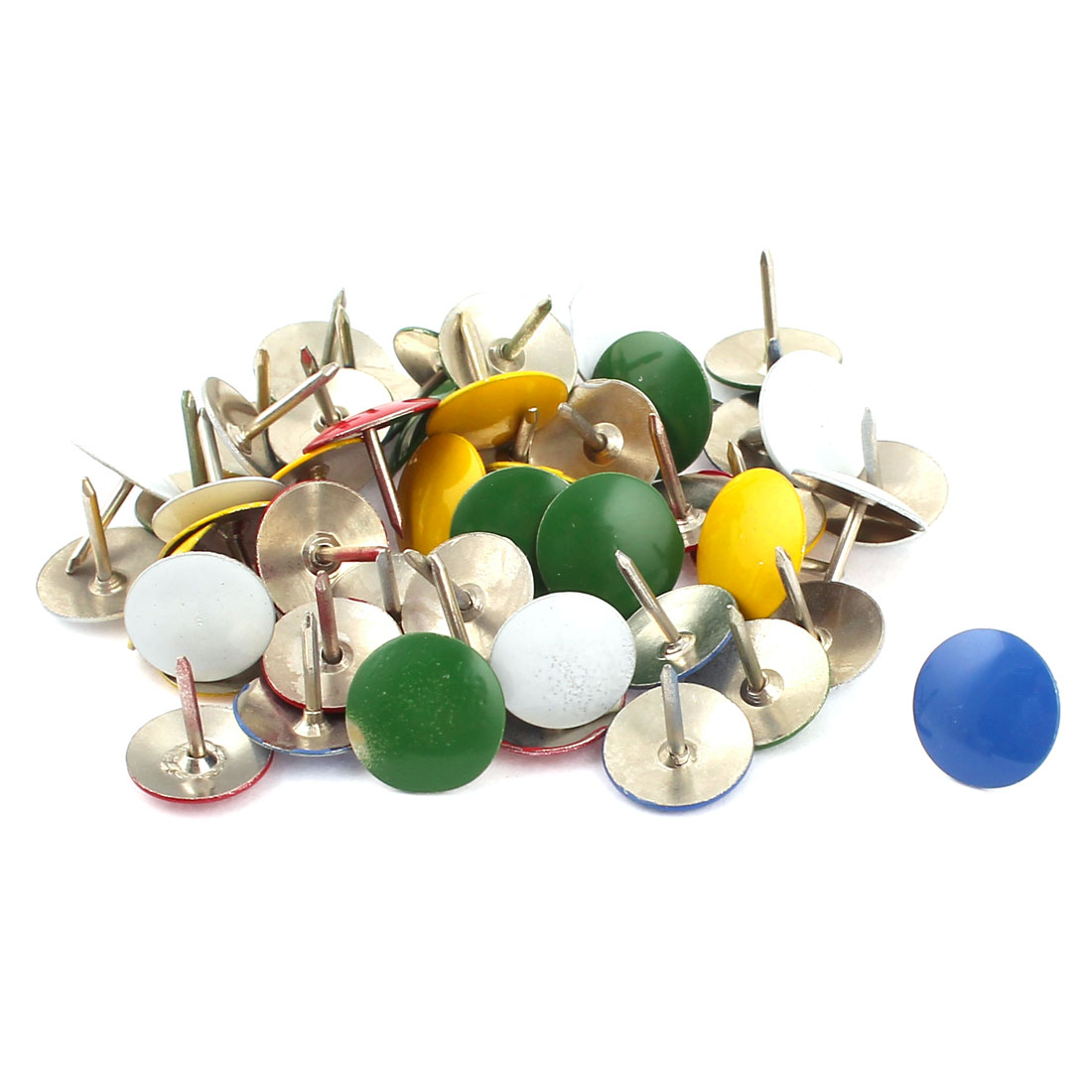 50 Pcs Multicolor Metal Message Board Thumbtacks Drawing Map Push Pins